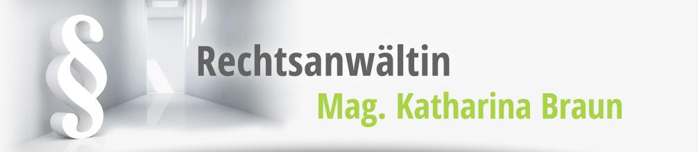 Logo: Rechtsanwältin Mag. Katharina Braun